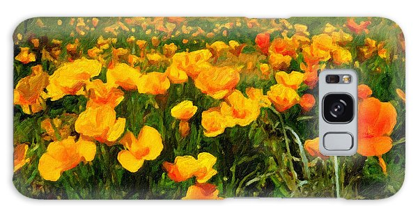 Mexican Poppies Galaxy Case