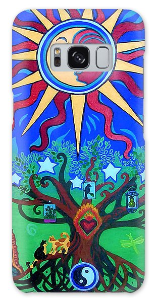 Mexican Retablos Prayer Board Small Galaxy Case by Genevieve Esson