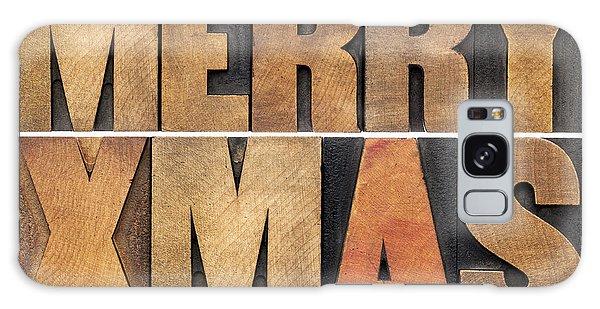 Meyy Xmas In Wood Type Galaxy Case