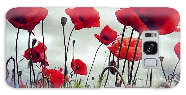 Sky Galaxy Case - #mgmarts #poppy #weed #flower #spring by Marianna Mills