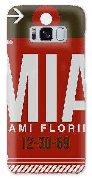 Mia Miami Airport Poster 4 Galaxy Case by Naxart Studio