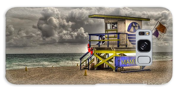 Miami Beach Lifeguard Stand Galaxy Case by Timothy Lowry