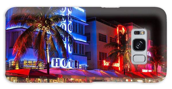 Miami Beach Ocean Drive Galaxy Case