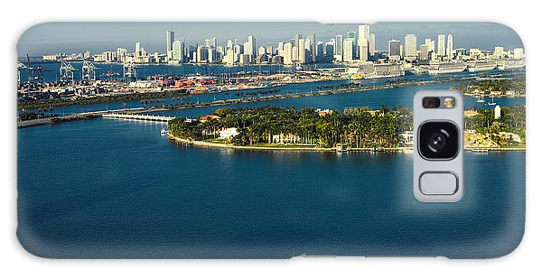 Miami City Biscayne Bay Skyline Galaxy Case