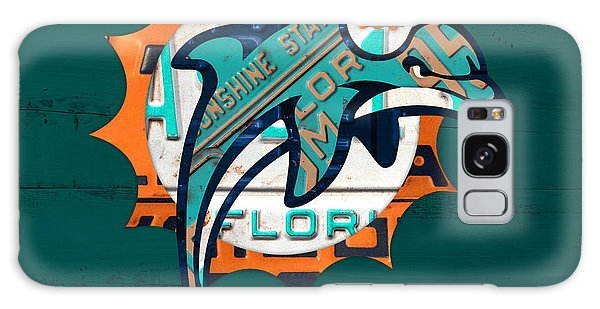 Miami Dolphins Football Team Retro Logo Florida License Plate Art Galaxy S8 Case