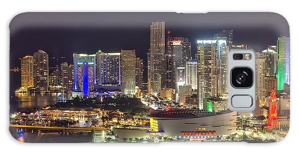 Miami Downtown Skyline American Airlines Arena Galaxy Case