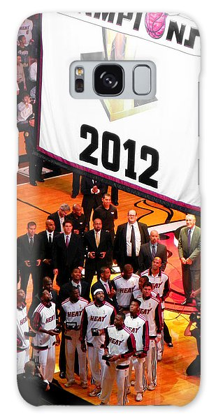 Miami Heat Championship Banner Galaxy Case by J Anthony