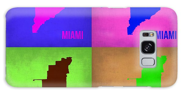 Florida Galaxy Case - Miami Pop Art Map 1 by Naxart Studio