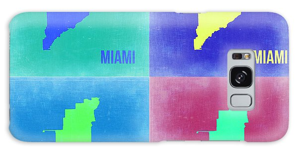 Florida Galaxy Case - Miami Pop Art Map 2 by Naxart Studio