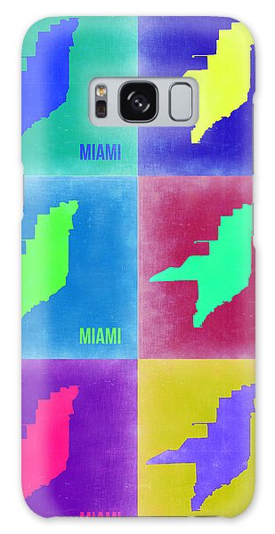 Florida Galaxy Case - Miami Pop Art Map 3 by Naxart Studio