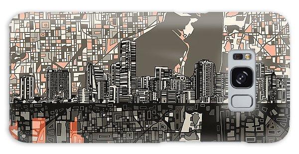 Miami Skyline Abstract 2 Galaxy Case