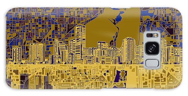 Miami Skyline Abstract 3 Galaxy Case