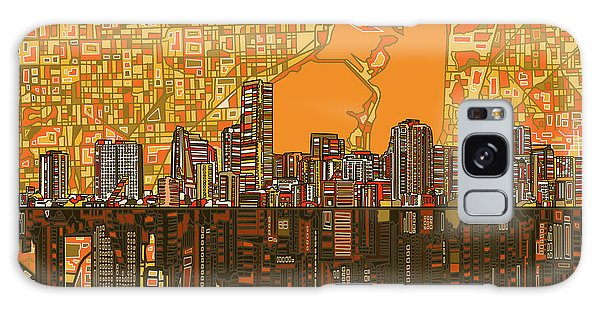 Miami Skyline Abstract 5 Galaxy Case