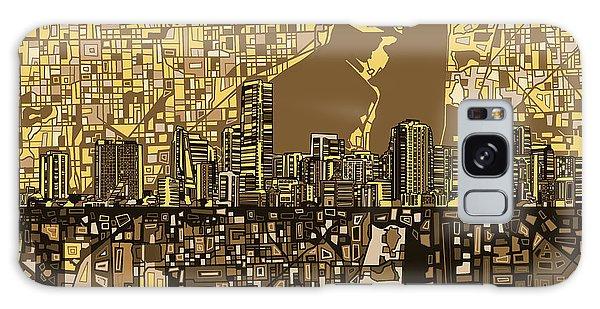 Miami Skyline Abstract 6 Galaxy Case