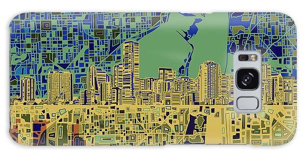 Miami Skyline Abstract 7 Galaxy Case