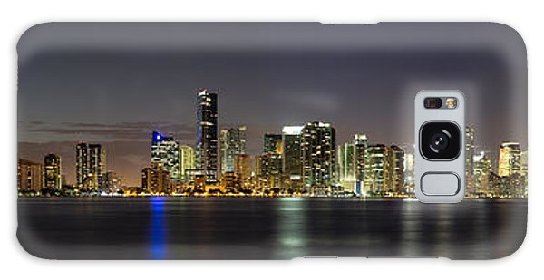 Miami Skyline Galaxy Case by Andres Leon