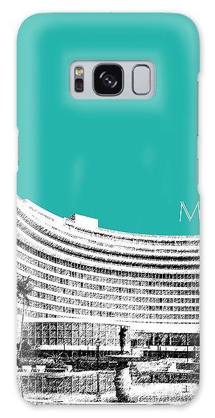 Miami Skyline Fontainebleau Hotel - Teal Galaxy Case