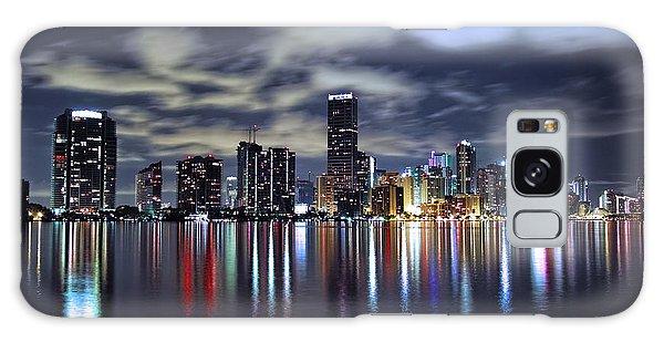 Miami Skyline Galaxy Case by Gary Dean Mercer Clark