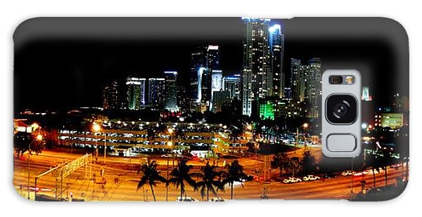 Miami Skyline Galaxy Case by J Anthony