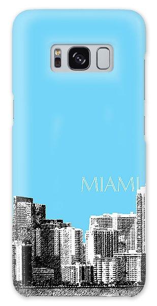 Miami Skyline - Sky Blue Galaxy Case