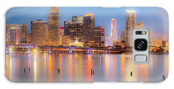 Miami Skyline On A Still Night- Soft Focus  Galaxy Case