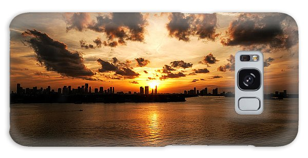 Miami Skyline Sunset Galaxy Case