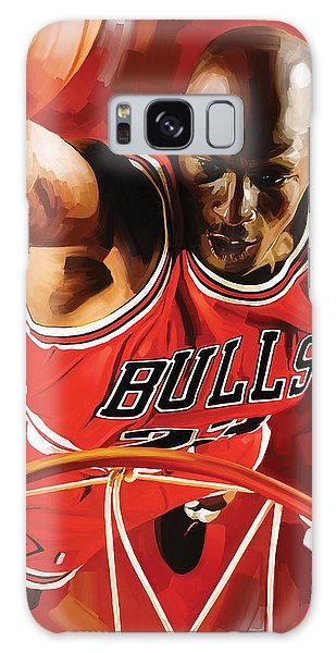 Michael Jordan Artwork 3 Galaxy Case