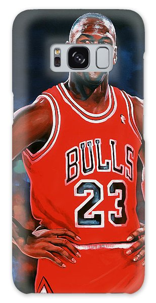 Michael Jordan Galaxy Case by Paul Meijering