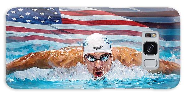 Michael Phelps Artwork Galaxy Case