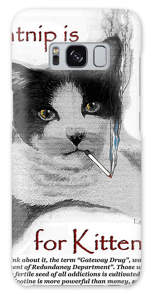 Michael's Smoking Cat Galaxy Case