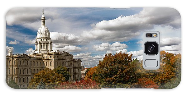 Michgan Capitol - Autumn Galaxy Case by Larry Carr