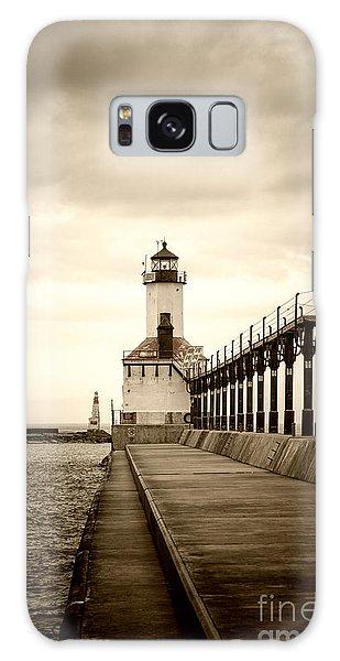 Michigan City Lighthouse Galaxy Case
