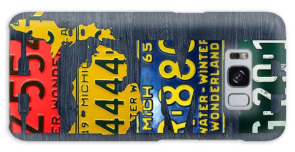 Recycle Galaxy Case - Michigan Home Recycled Vintage License Plate Art State Shape Lettering Phrase by Design Turnpike