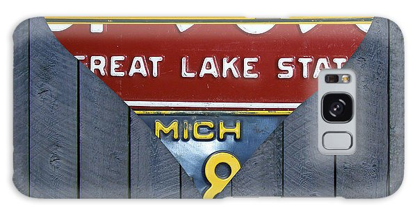 Motor City Galaxy Case - Michigan Love Heart License Plate Art Series On Wood Boards by Design Turnpike