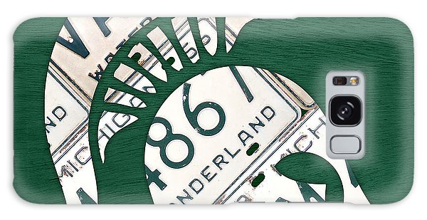 Michigan State Spartans Sports Retro Logo License Plate Fan Art Galaxy Case by Design Turnpike