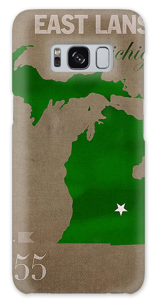 Michigan State University Spartans East Lansing College Town State Map Poster Series No 004 Galaxy Case
