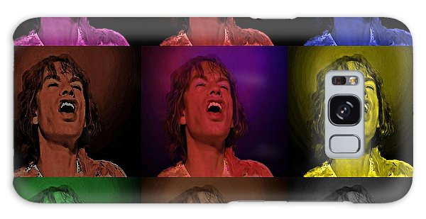 Mick Jagger Pop Art Print Galaxy Case