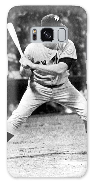 Mickey Mantle At Bat Galaxy Case by Underwood Archives