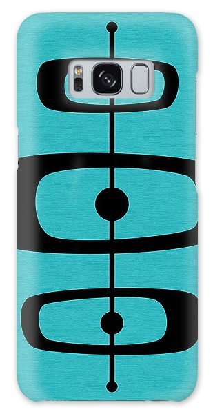 Mid Century Shapes 2 On Turquoise Galaxy Case