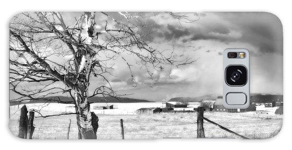 Fence Post Galaxy Case - Mid-winter Moonlight by Theresa Tahara