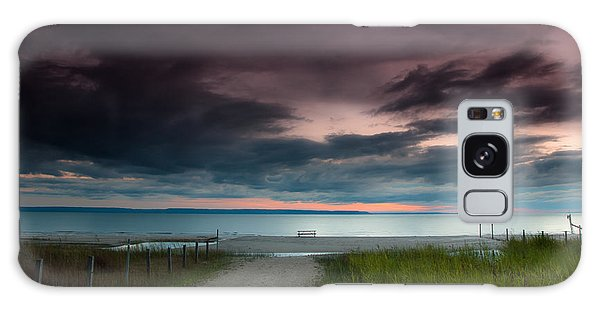 Picnic Table Galaxy Case - Midland Sunset by Cale Best
