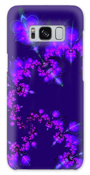 Midnight Blossoms Galaxy Case