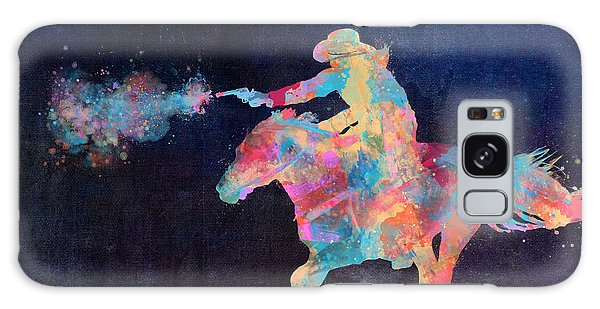 Midnight Cowgirls Ride Heaven Help The Fool Who Did Her Wrong Galaxy Case by Nikki Marie Smith