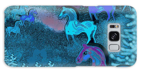 Midnight Horses Galaxy Case by Carol Jacobs