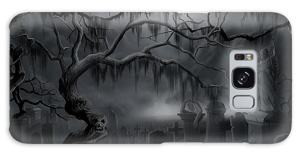 Midnight In The Graveyard  Galaxy Case