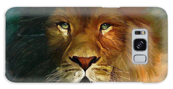 Lion Portrait Galaxy Case by James Shepherd