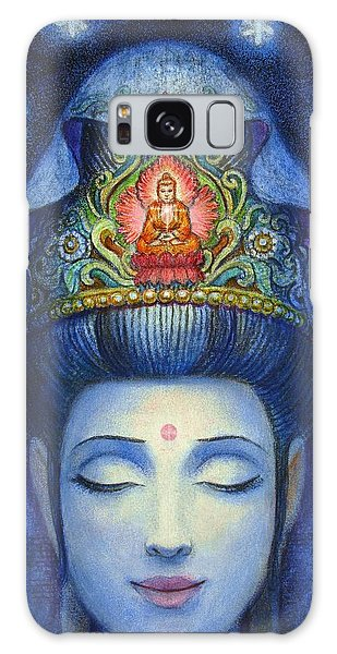 Midnight Meditation Kuan Yin Galaxy Case by Sue Halstenberg