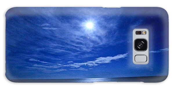 Midnight Moon Galaxy Case by John Roberts