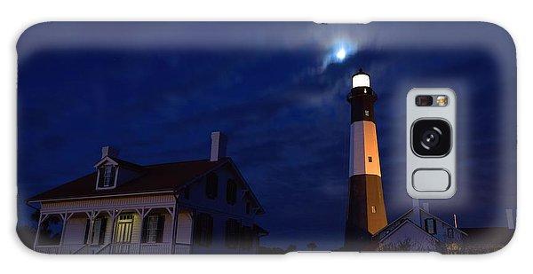 Midnight Moon Over Tybee Island Galaxy Case