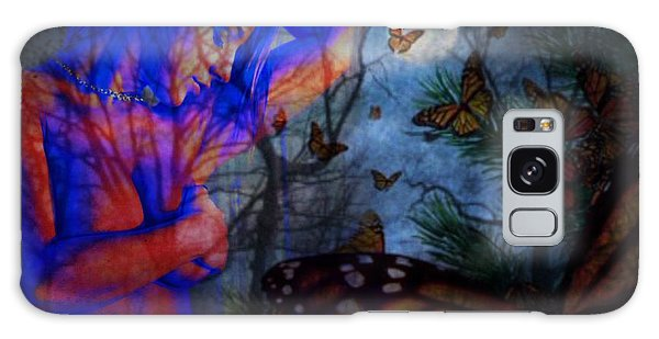 Midnight Nude With Butterflies Galaxy Case by Diana Riukas